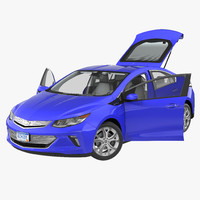 chevy volt 2016 rigged 3d model