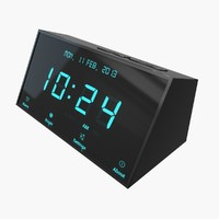 3d digital alarm clock model