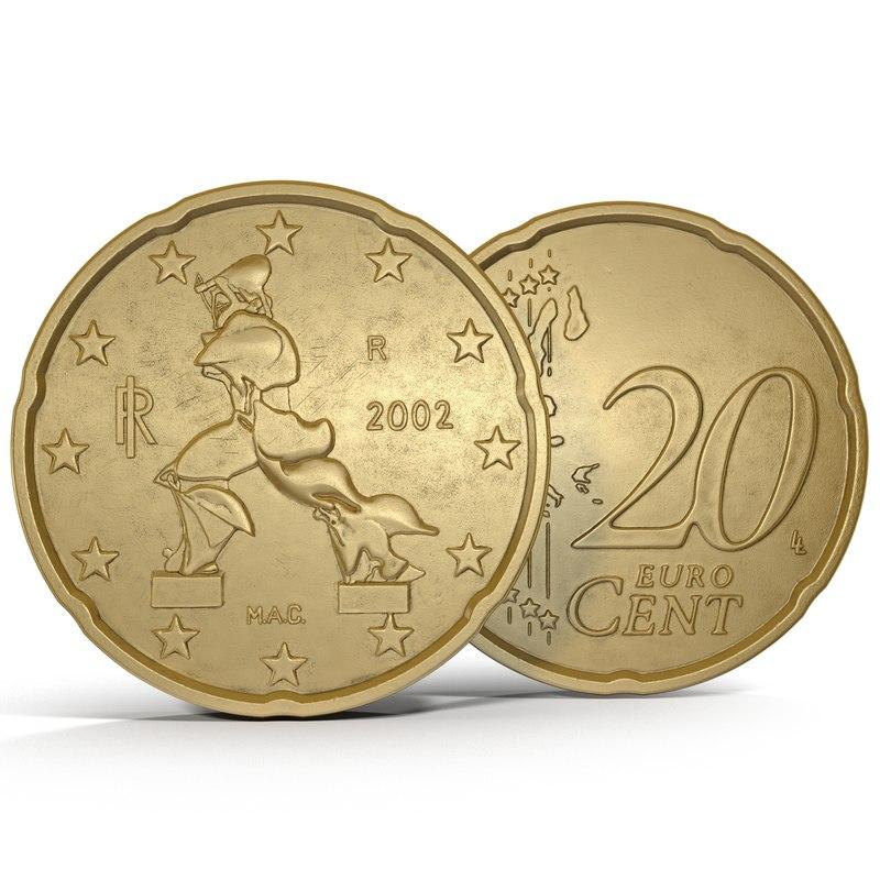 italian euro coin 20 3ds