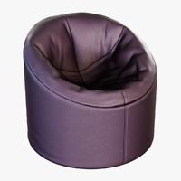 3d model of pouf soft p