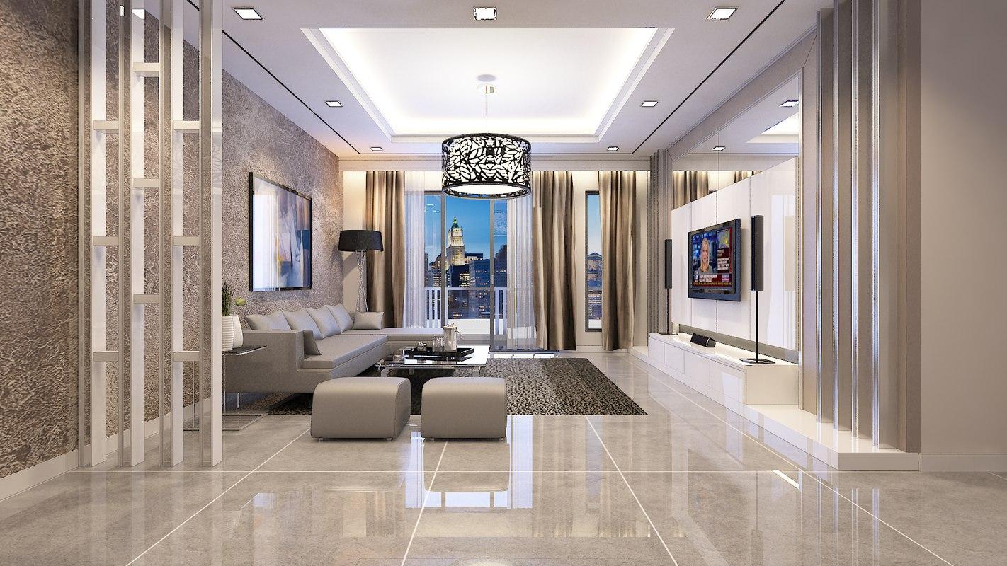 living condominium room 3ds