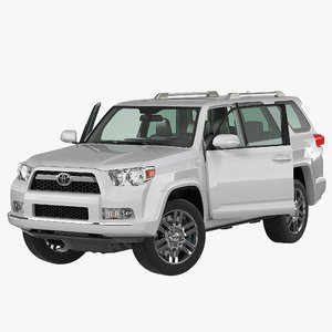 3d model toyota 4runner rigged 2012