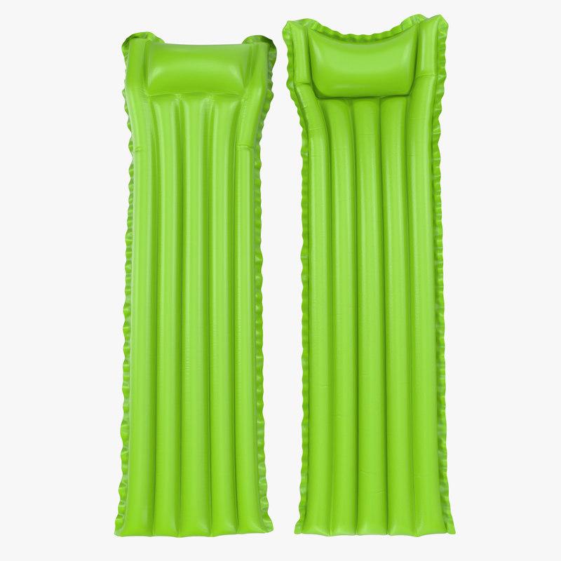 3d model inflatable air mattress 3