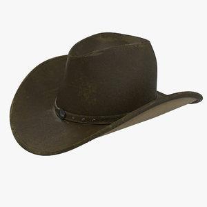 3d model old cowboy hat 2