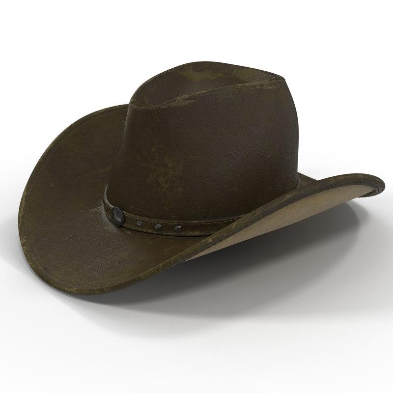 Modeling Hats: 3d Model Old Cowboy Hat 2