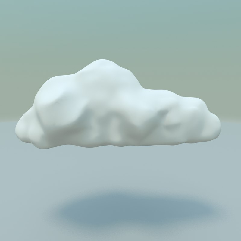 3d model cartoon style cloud background
