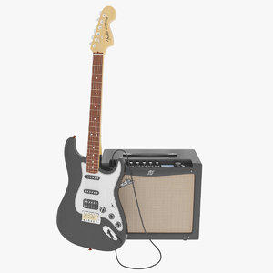 3d model electric guitar amplifier