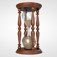 hourglass hour glass 3d model
