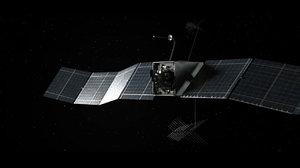 3d satellite space