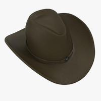 cowboy hat 2 3d model