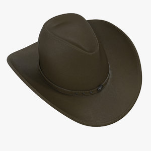 3d cowboy hat 2 modeled