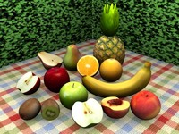 3ds max set fruits