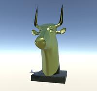 3ds max bull head