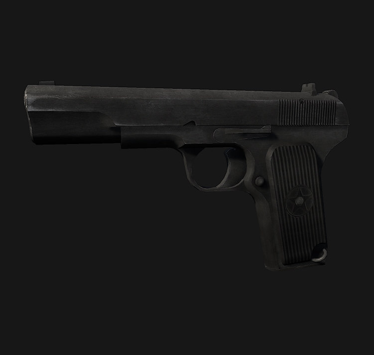 3d tt pistol model