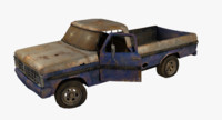 Rusty pick-up lowpoly