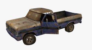 3d rusty pick-up model