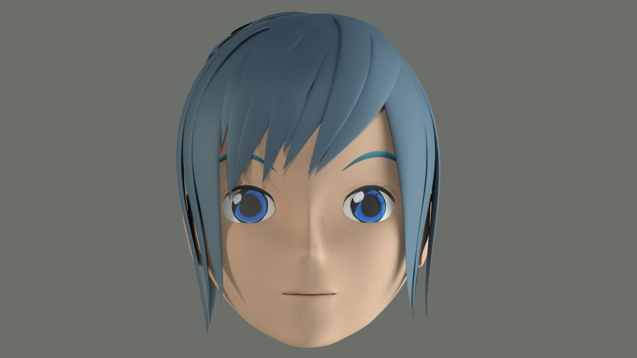 free stylized character head 3d model