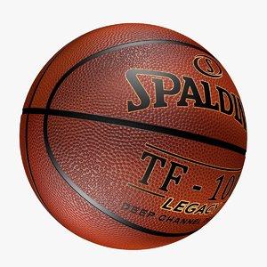 realistic basketball ball spalding max