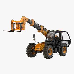 3d model telescopic handler forklift generic