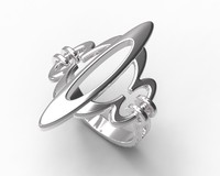 ring gold silver 3d model
