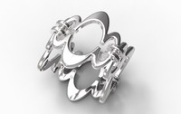 3d ring gold silver model
