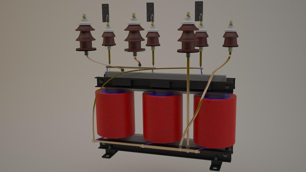 transformer windings 3d model