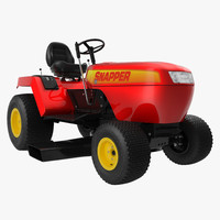 3d model of lawn tractor snapper modeled