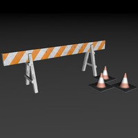 Road Barrier and Cone