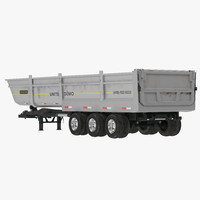 semi dump trailer modeled 3d model