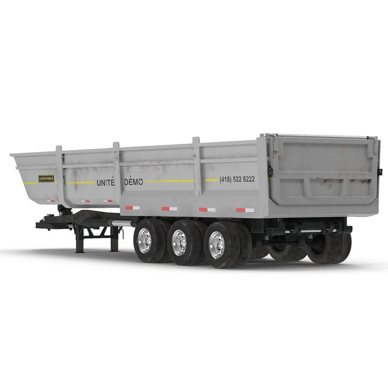 Semi Dump Trailers >> Semi Dump Trailer Modeled 3d Model