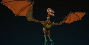 3d clockwork puppet dinosaur model