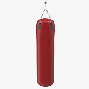 3d model of bag red generic