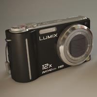 3d max camera panasonic dmc-tz7