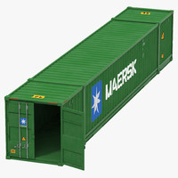 3d 53 ft shipping iso container