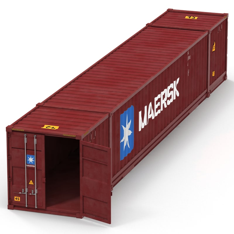 53 ft shipping iso container 3d model