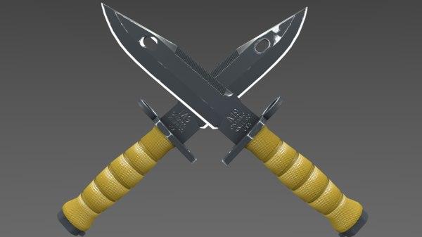 3d m9 knife bayonet