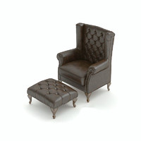 Classic chair with ottoman