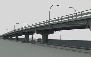 city highway overpass obj
