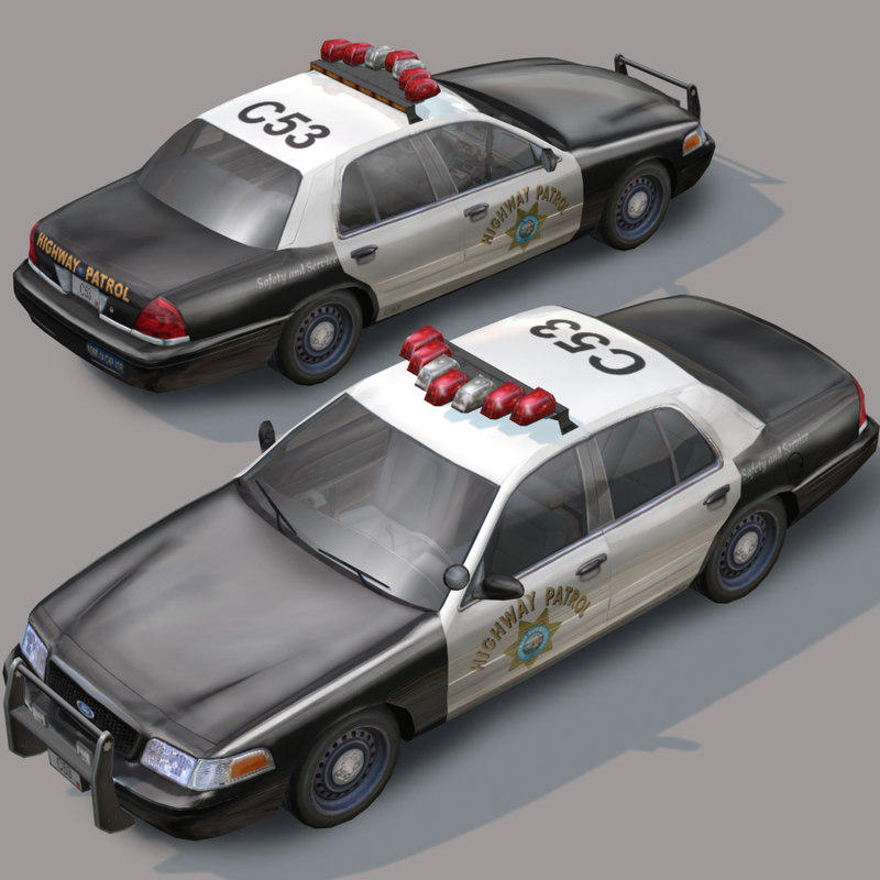 highway car wheel police 3d model