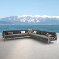 restoration hardware mustique corner sofa 3d model