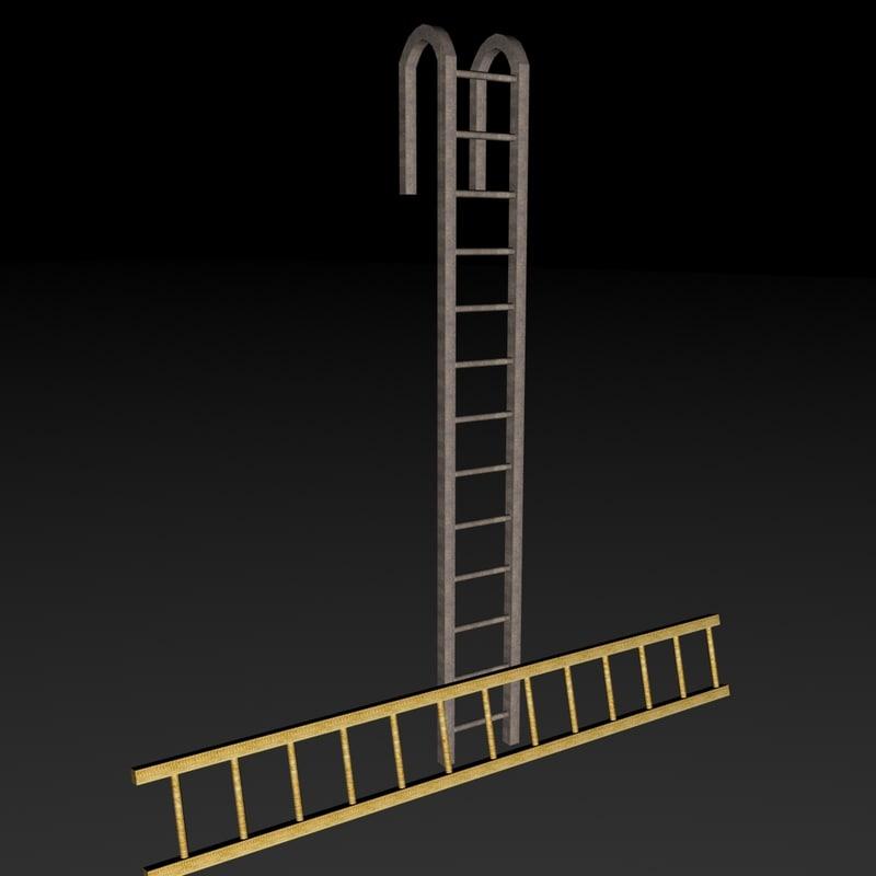 metal wooden 3d model