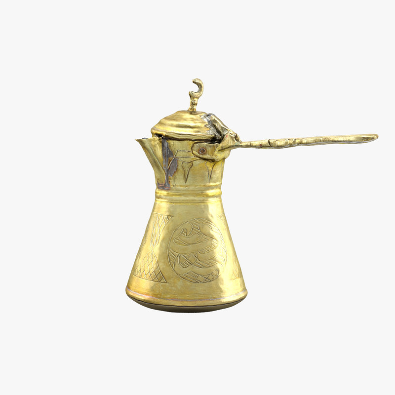 arabic coffee pot 3d model