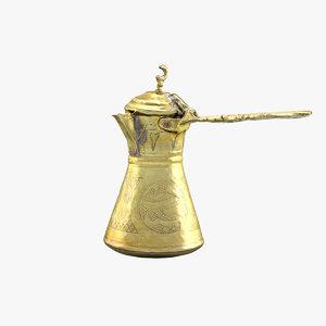 arabic coffee pot 3d model