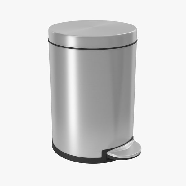 3d step garbage modeled model