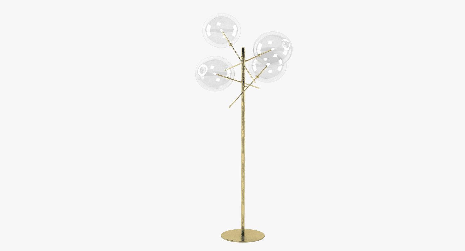 3d model bolle terra lamp light