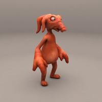 3d cartoon pig-elephant model