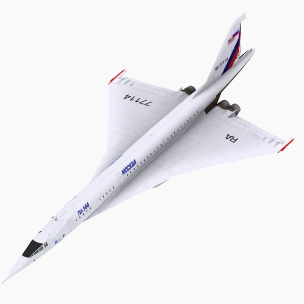 aircraft tupolev nasa 3d model