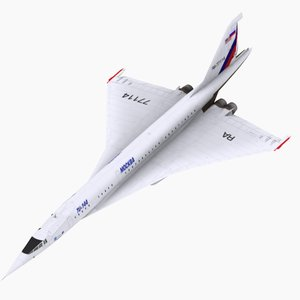 aircraft tupolev nasa 3d model
