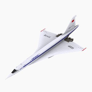 3d model aeroflot simulations aircraft