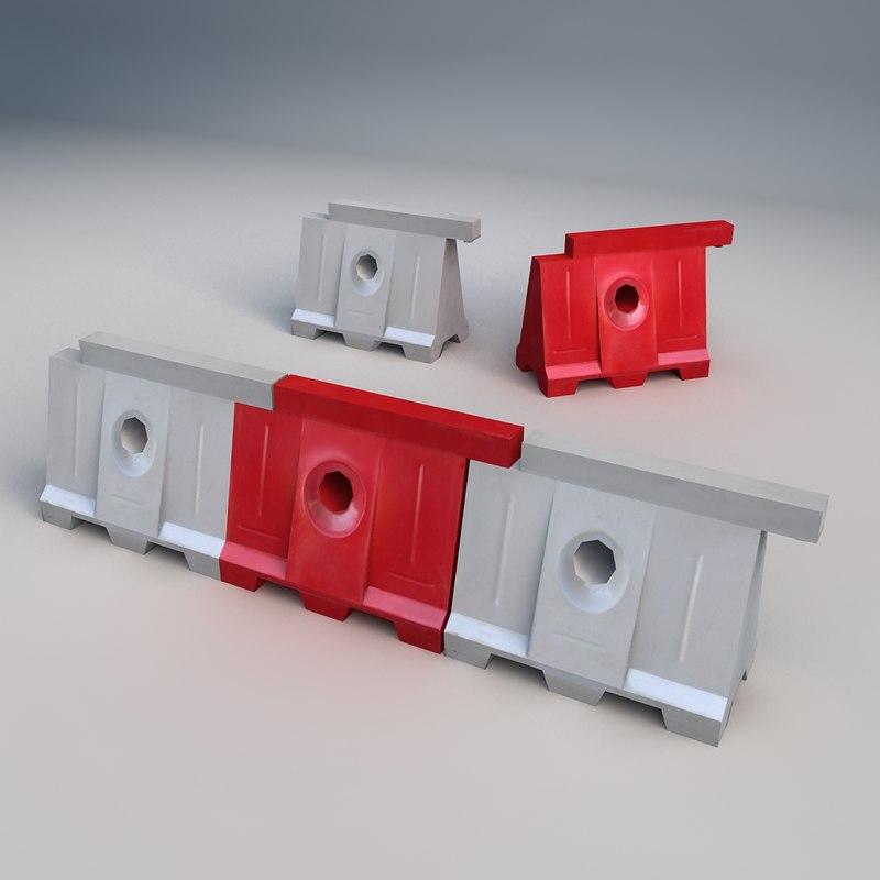 3ds concrete barrier
